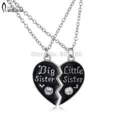 aliexpress pendant necklace images 2p sisters pendant necklace broken heart puzzle jewelry unique jpg