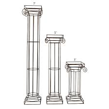 5 u2032 wrought iron column u2013 celebrations party rentals