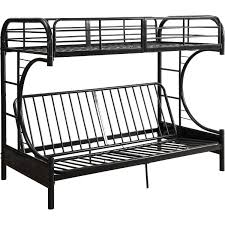 Black Metal Futon Bunk Bed Acme Furniture 02081bk Eclipse Futon Bunk Bed In