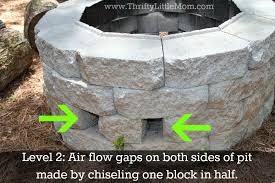 How To Build Your Own Firepit Easy Diy Inexpensive Firepit For Backyard Thrifty