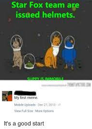Star Fox Meme - star fox team are issued helmets my first meme mobile uploads dec 27