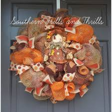 shop autumn mesh wreaths on wanelo