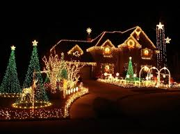 New Christmas Lights by Houses Christmas Lights Lanterns Light Star New Year Night Way