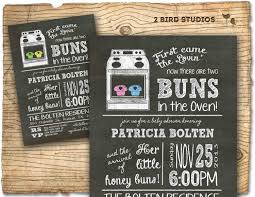 twins baby shower invitation twins bun in the oven baby