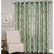 semi opaque medalia spa green grommet top window curtain panel