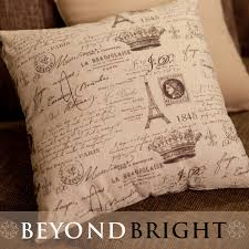 scripted french provincial cushion cover shabby chic cushions