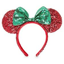 green headband disney minnie mouse christmas headband ears sequins