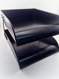 Desk Organizer Tray by Industirial File Tray Metal Desk Organizer 2 Tier Vintage Globe
