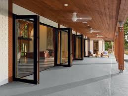 Accordion Doors Patio Folding Patio Glass Doors Marvin Accordion Exterior In