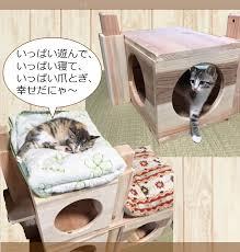 Kitten Bed Pet Kagu Kagu Rakuten Global Market Cedar In The Cat U0027s Wooden