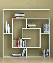 Wooden Wall Display Cabinets Homemade Bookshelves Save Money Creative White Design Wall Shelves