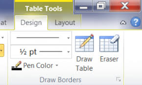table tools design tab where is the table tool tab in word 2007 2010 daves computer tips