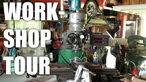 part1 a tour of my dad u0027s metal working workshop garage youtube