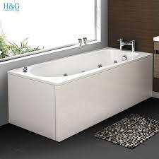 1700 whirlpool straight shower bath 11 jets massage white acrylic