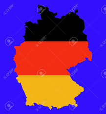 Blank Map Of Germany by Outline Map Of Federal Republic Of Germany In Colors Of Flag