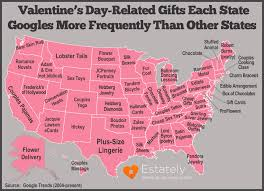 valentines gifts s day related gifts each state googles more frequently
