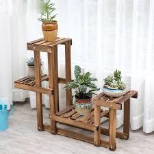 Wohnzimmer Massivholz Massivholz Blumenständer Mehrgeschossige Boden Blume Bonsai Holz