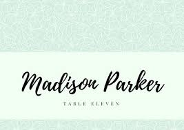 Wedding Place Cards Template Mint Green Wedding Elegant Script Place Card Templates By Canva