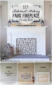 fake fireplace mantel ideas amys office