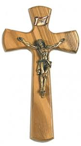 wooden wall crucifix olive wood wall crucifix with flared tips and antique gold finish