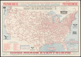 Interstate Map Of United States by National Highways Map Of The United States Showing Principal