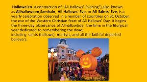 halloween hallowe u0027en a contraction of