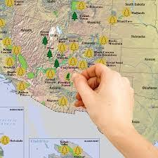 Capitol Reef National Park Map Us National Parks Scratchable Map Blue U2013 Globetrotter Works