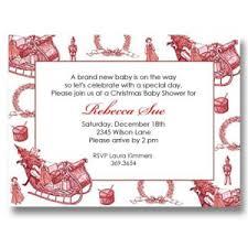 Christmas Baby Shower Invitations - baby invitations it u0027s cachet baby