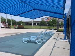 Pool And Patio Decorating Ideas by Outdoor U0026 Landscaping Remarkable Patio Blue Pool Shade For