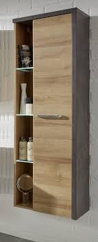 badezimmer hochschr nke hänge hochschrank bay eiche honig grau beton