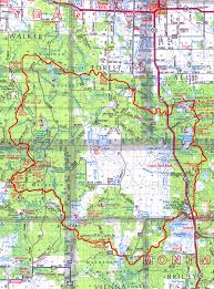 Mi Map High Country Pathway Up North Trails