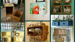 diy repurposed old drawer ideas recycled home decor youtube