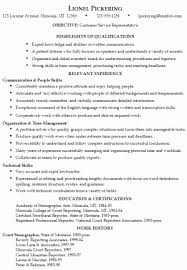 customer service call center fuctional resume sample