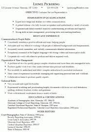 customer service resume sample professional experience customer