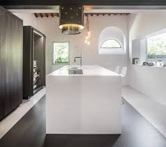ilot cuisine blanc avec ilot central blanc