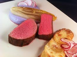 forum cuisine plus sous vide beef belgian endive purple cauliflower puree baked