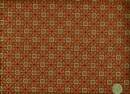 Modern Retro Upholstery Fabric Mid Century Modern Retro Funky Mini Floral Orange Fuschia