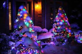 christmas lights in snow u2013 ruth e hendricks photography