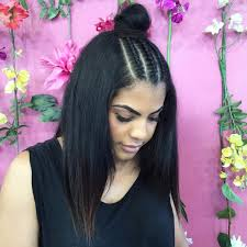 Half Up Half Down Hairstyles Black Hair 21 Braid Top Knot Hairstyle Ideas Designs Haircut Design