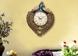 buy handicraft product online antique peacock wall clock