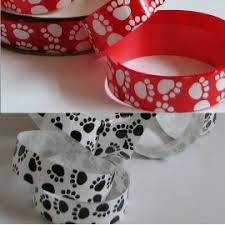 paw print ribbon satin paw print ribbon