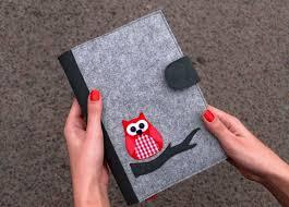 Refillable Felt Journal Cover Felt Notebook Cover Fabric Planner