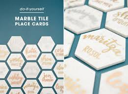 place cards diy 11 hexagon crafts that bring geo style to your home