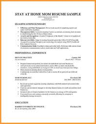 Stay At Home Mom Resume Template 8 Resume For Stay At Home Mom Returning To Work Bird Drawing Easy
