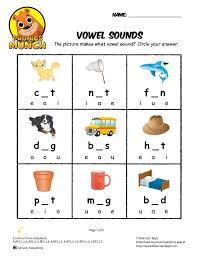 vowel sounds phonics worksheet