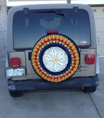 tire cover for honda crv black and blues crocheted spare tire cover by tristinandcompany