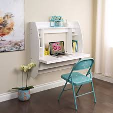 computer desk with shelves white amazon com prepac wall mounted floating desk with storage in white
