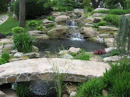 backyard pond ideas with waterfall home design ideas