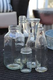 How To Spray Paint A Glass Bottle Diy Gilded Vases From Condiment Bottles Simple Stylings