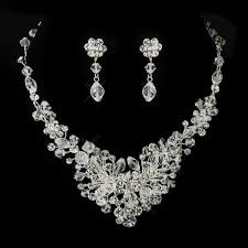 wedding earring necklace set images Austrian crystal bridal jewellery set wedding jewellery bridal jpg